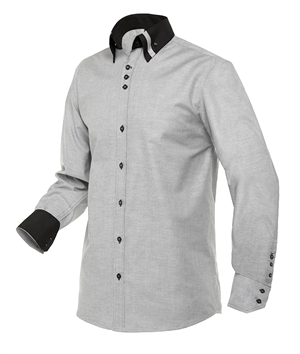 CAMISA BARMAN OXFORD GRIS M/L